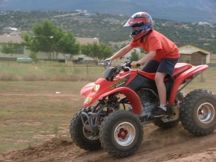 Quad Running in Southern Utah